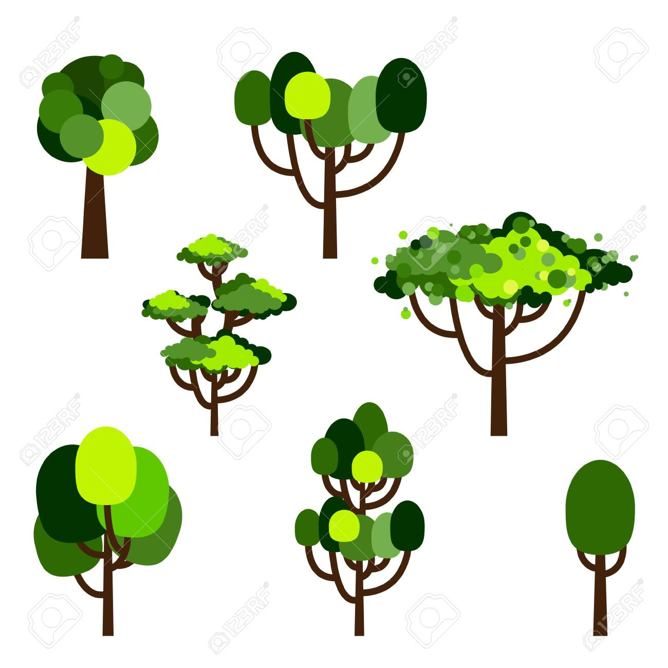 Some, such as larch and tamarack (larix spp.), have needles and cones but also lose their leaves in the fall. Cartoon Tree Collection Of Trees Simple Flat Forest Flora Coniferous And Deciduous Trees Oak Pine Christmas Trees Isolated Plants Vector Illustration Set Royalty Free Cliparts Vectors And Stock Illustration Image 148105747
