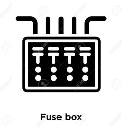 office fuse box wiring diagram centre fuse box icon vector isolated on white background logo [ 1300 x 1300 Pixel ]