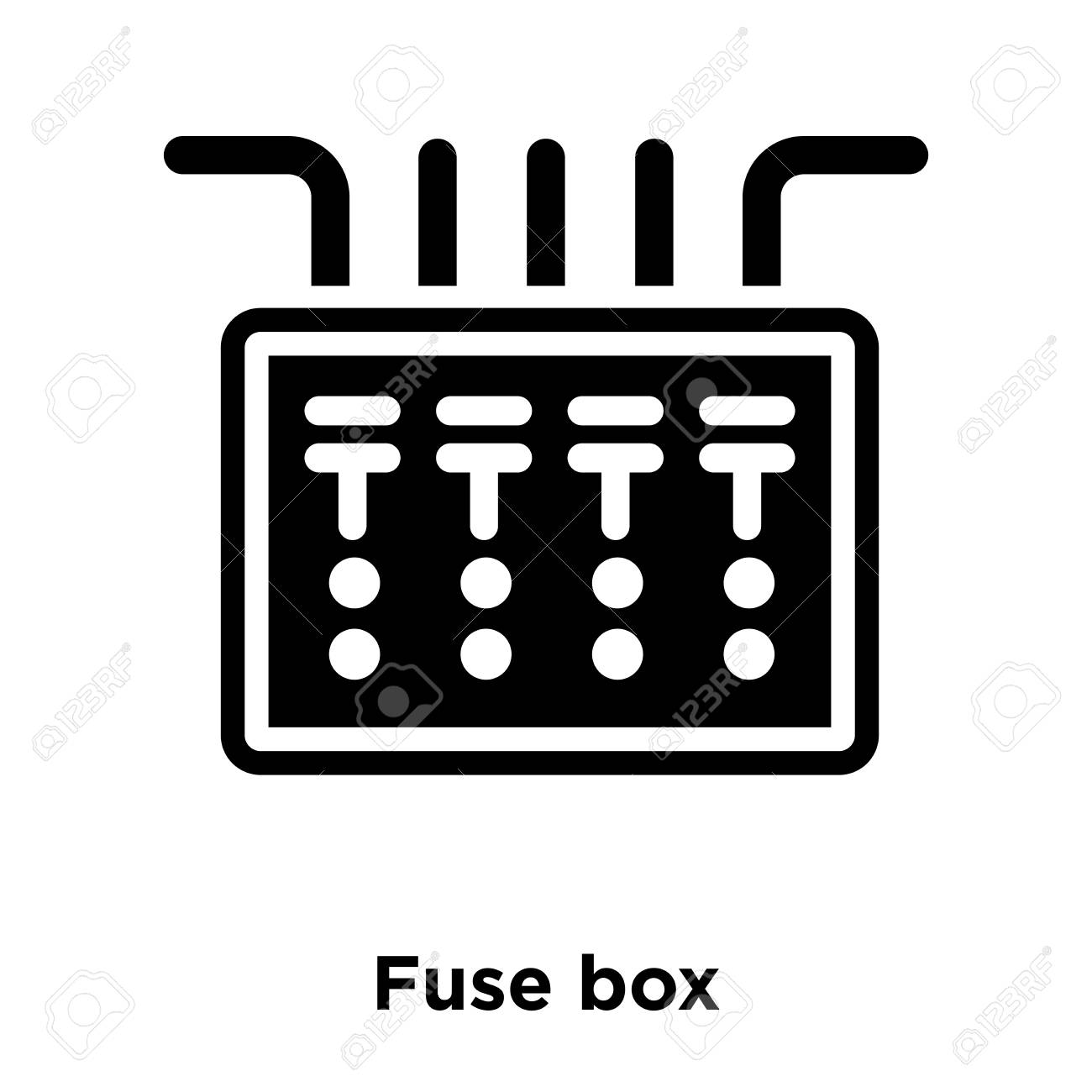 hight resolution of office fuse box wiring diagram centre fuse box icon vector isolated on white background logo