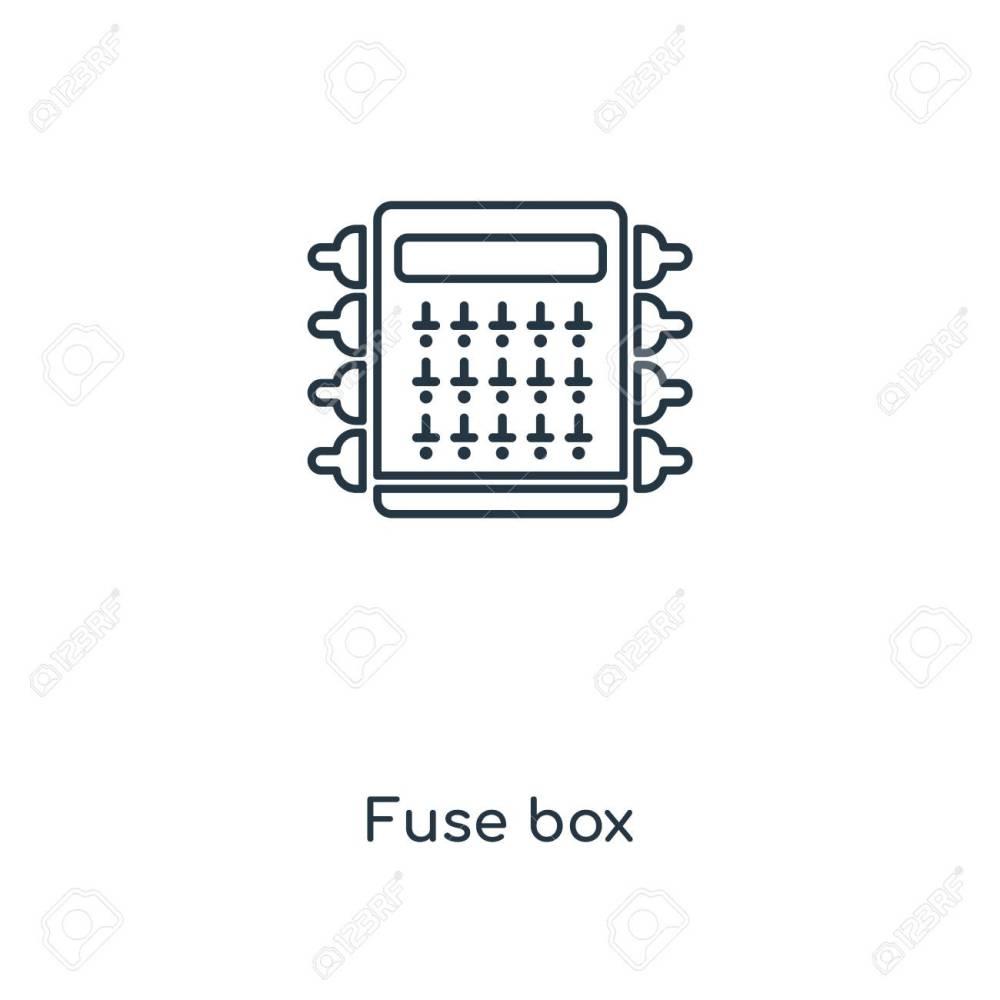 medium resolution of fuse box concept line icon linear fuse box concept outline symbol design this simple