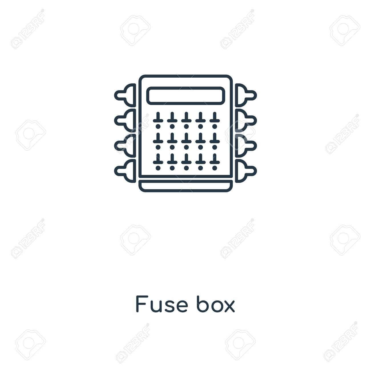 hight resolution of fuse box concept line icon linear fuse box concept outline symbol design this simple
