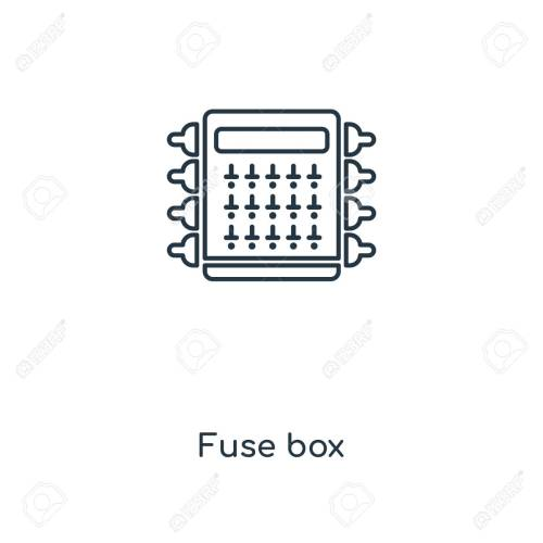 small resolution of fuse box concept line icon linear fuse box concept outline symbol design this simple