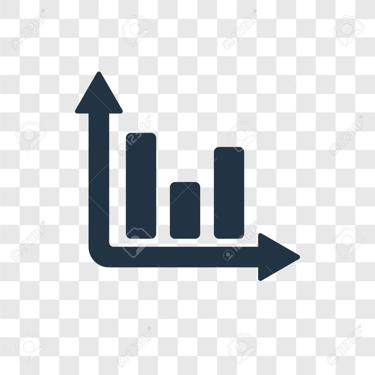 three bars graph vector