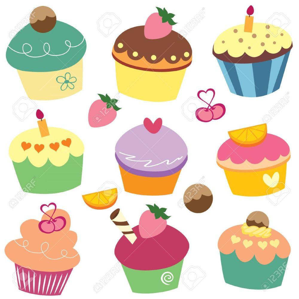 medium resolution of vector yummy cupcakes clip art