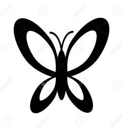simple black and white butterfly icon stock vector 59771665 [ 1300 x 1300 Pixel ]