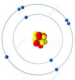 oxygen atom with proton neutron and electron 3d bohr model stock rh 123rf com sulfur protons [ 1300 x 866 Pixel ]