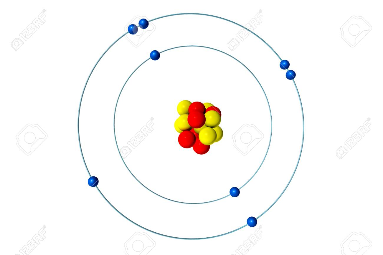 hight resolution of oxygen atom with proton neutron and electron 3d bohr model stock rh 123rf com sulfur protons