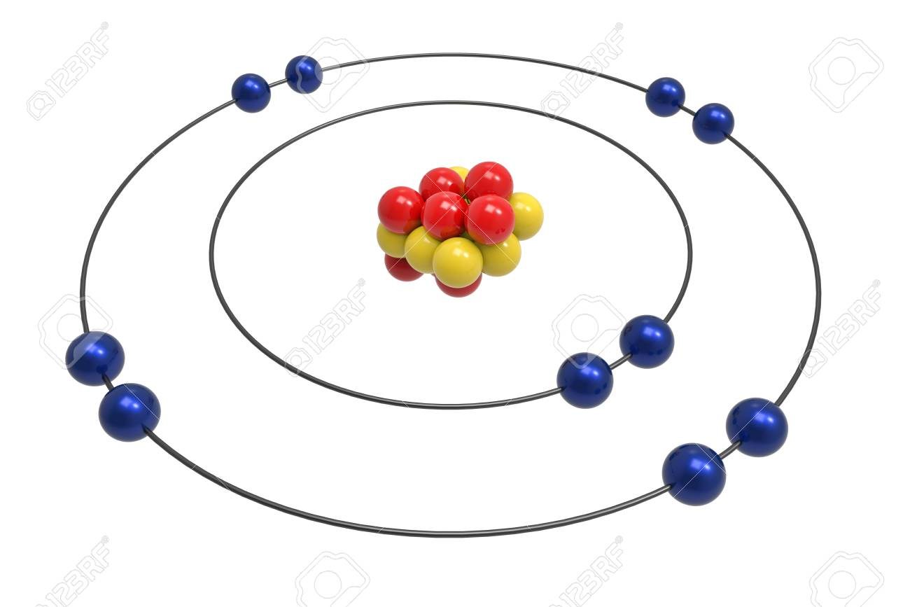 hight resolution of bohr model of neon atom with proton neutron and electron science bohr diagram for neon
