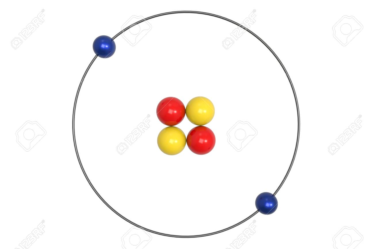 hight resolution of bohr model of helium