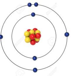 illustration nitrogen atom bohr model with proton neutron and electron 3d illustration [ 1300 x 867 Pixel ]