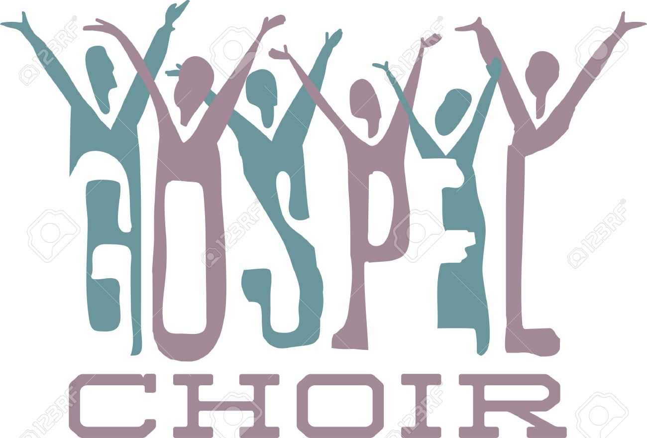 hight resolution of gospel word and praising choir for music fans