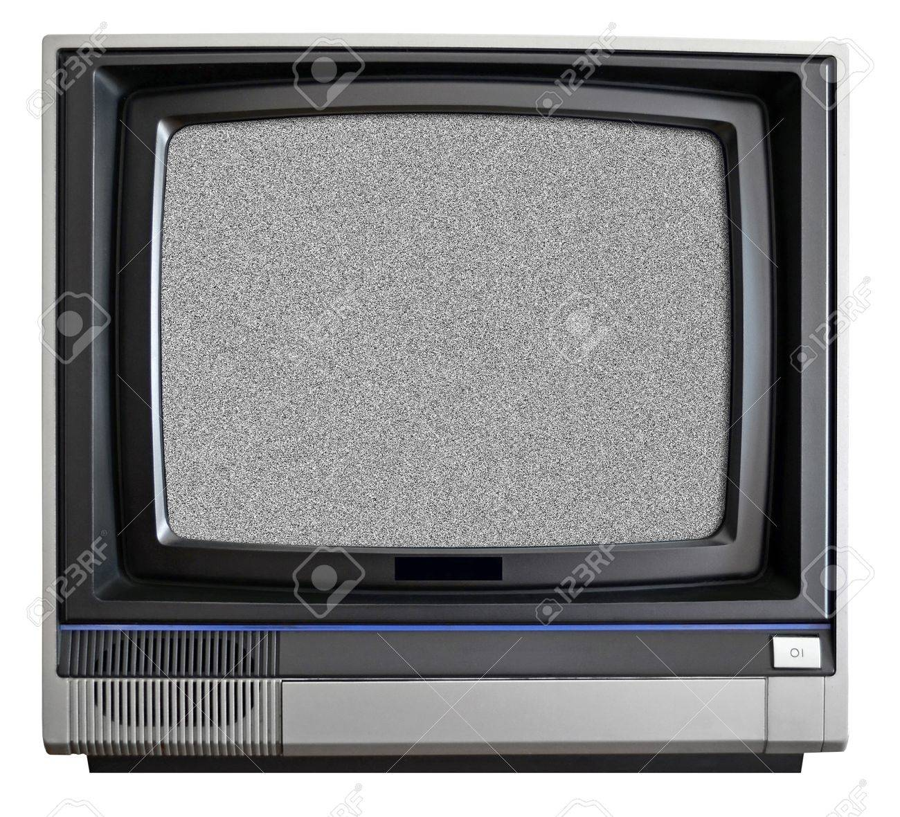 vintage crt tv isolated