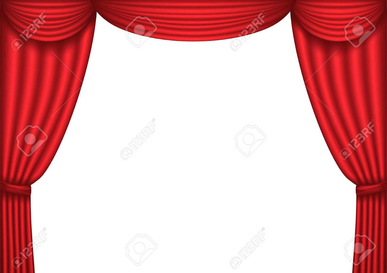 open red theater curtain background