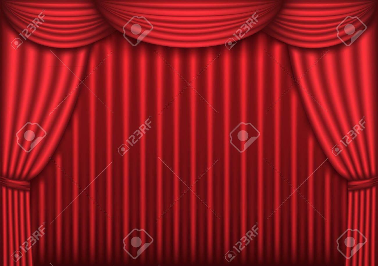 Rideaux Velours Rouge Theatre Rideaux En Théâtre Image Stock Image