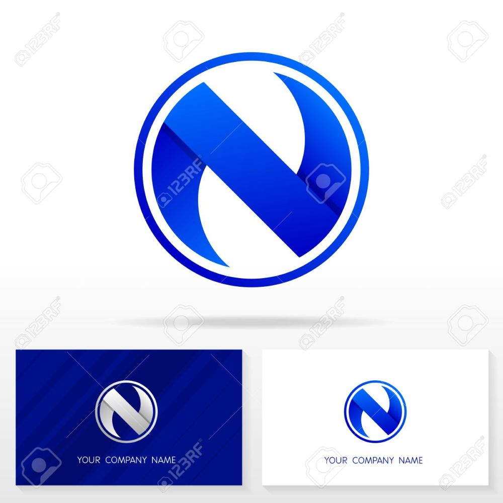 medium resolution of letter n logo design business vector sign business card templates