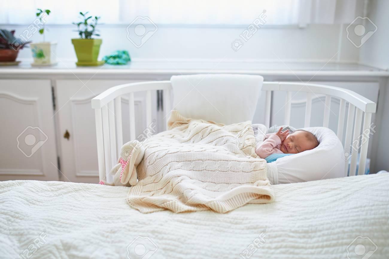 newborn baby girl having