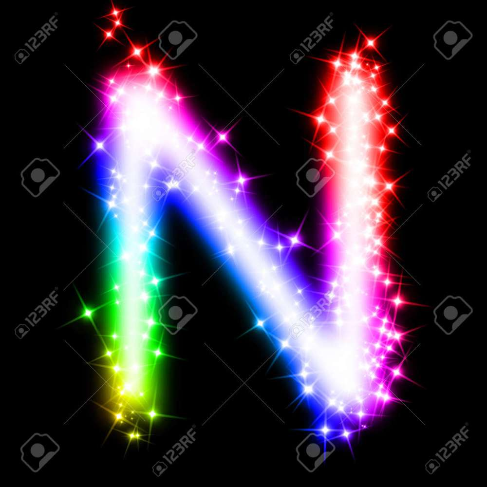 medium resolution of colorful alphabet letter n stock photo 11062698