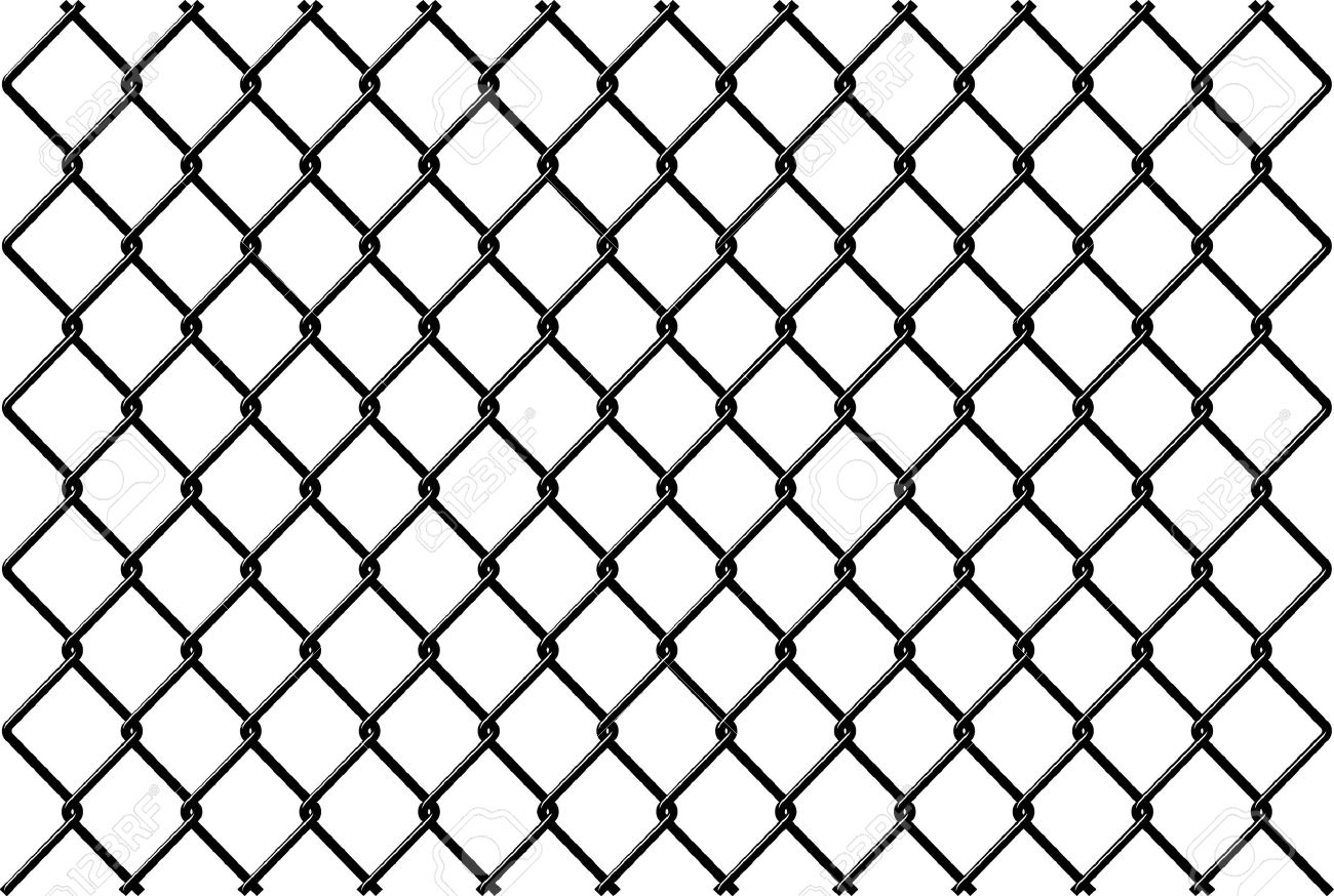 chainlink fence vector with