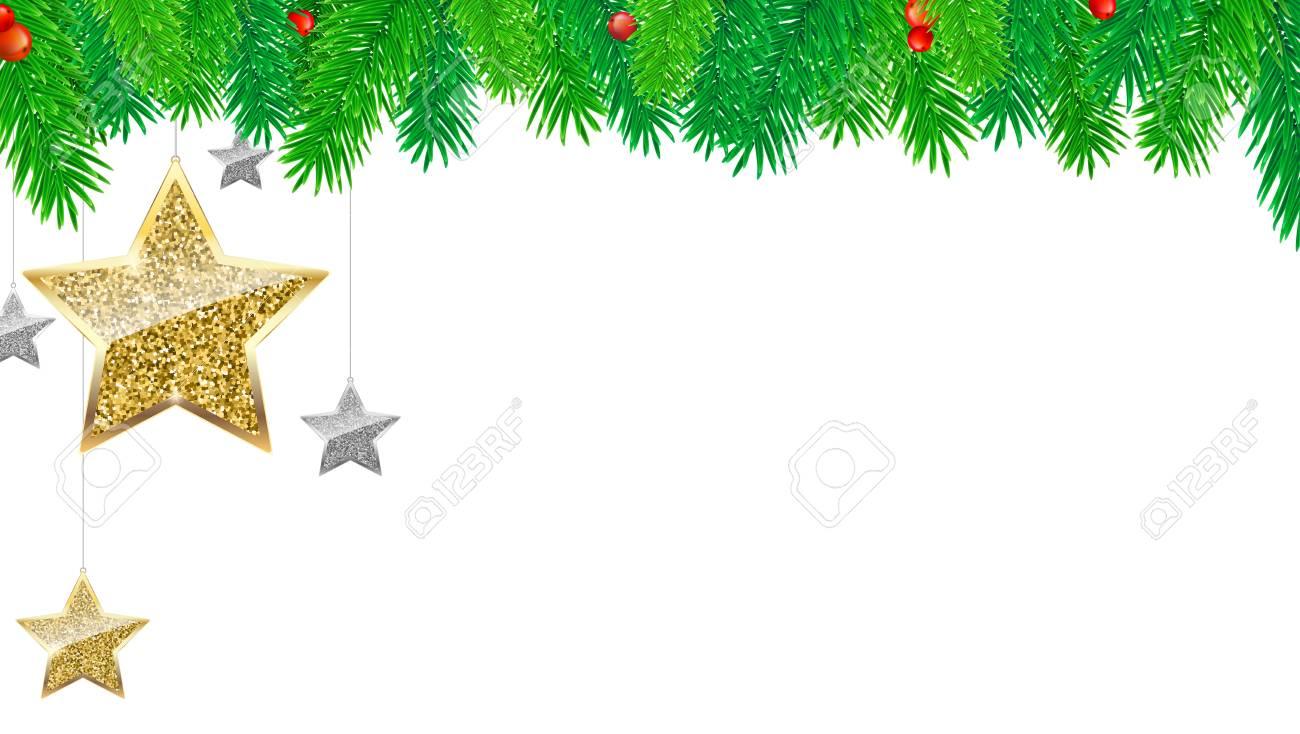 christmas banner with fir