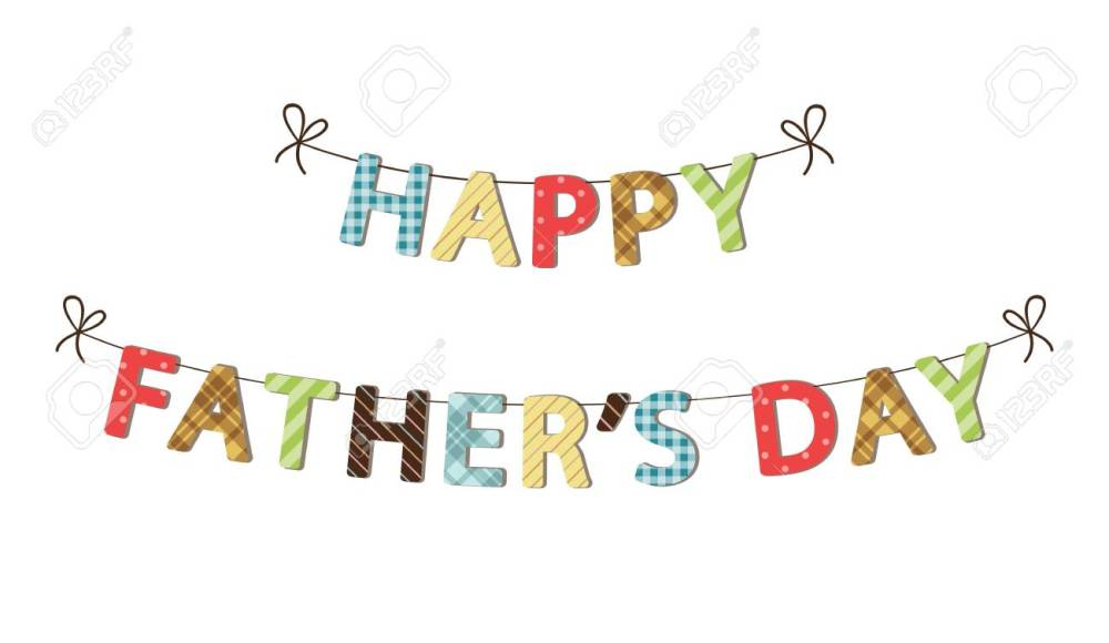 medium resolution of cute festive fathers day banner stock vector 77437776