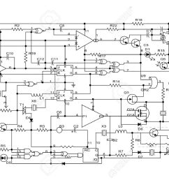 schematic diagram project of electronic circuit stock photo 5894527 [ 1300 x 918 Pixel ]