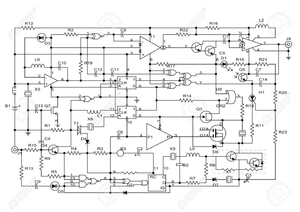 medium resolution of schematic diagram project of electronic circuit stock photo 5894527