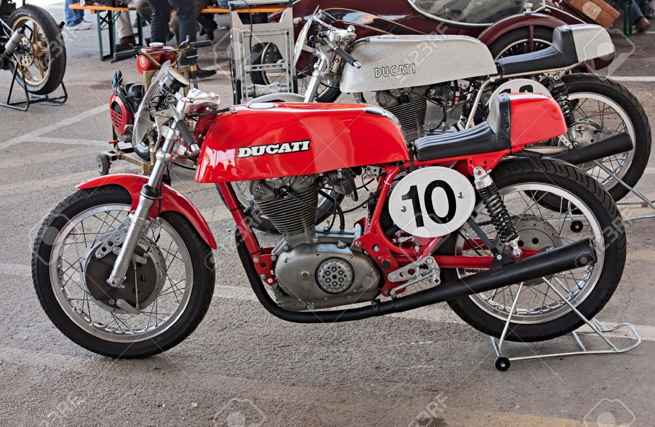 hight resolution of old italian racing motorcycle ducati exposed at rally of vintage and modern motorbikes motoconcentrazione della vendemmia