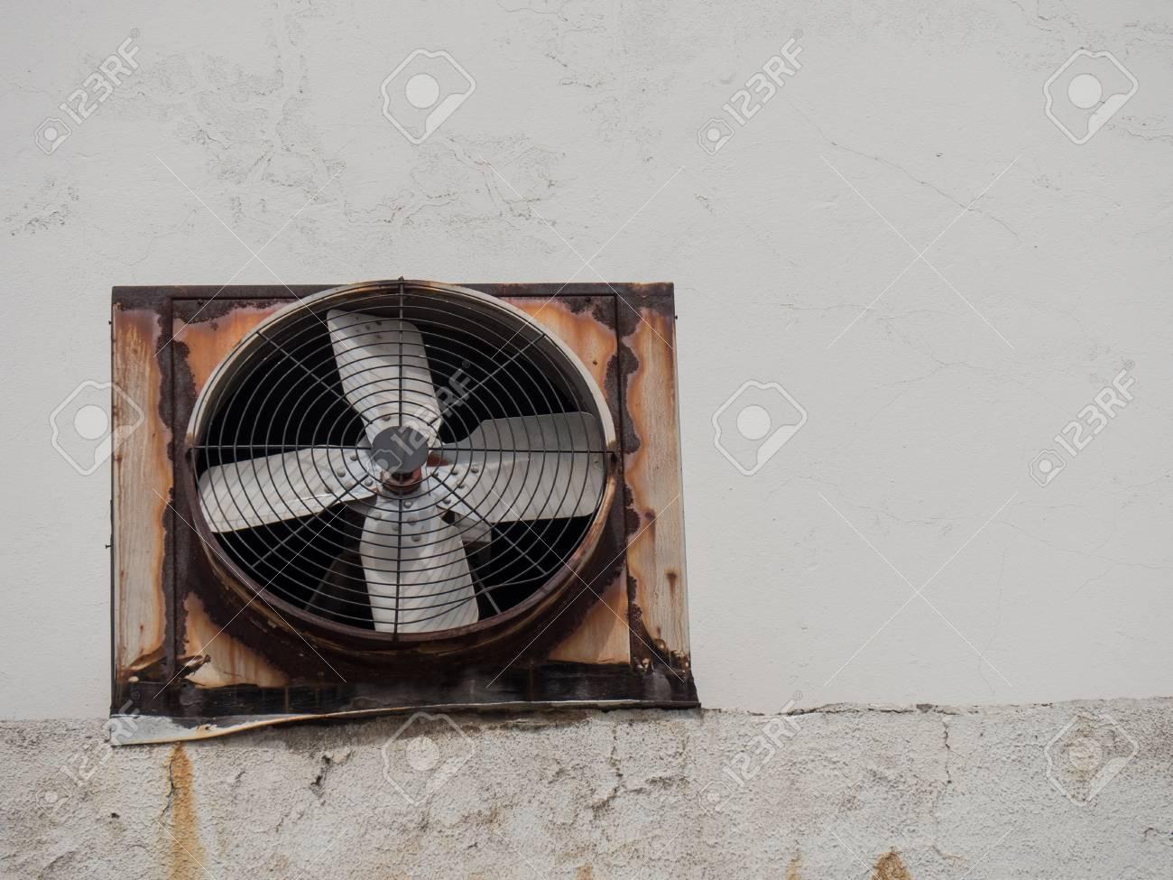 industrial ventilation exhaust fan on wall