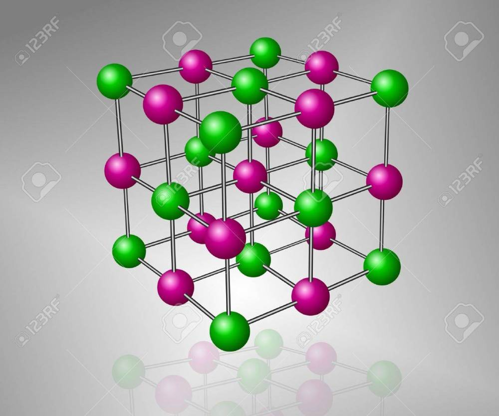 medium resolution of crystalline structure model of sodium chloride molecule stock photo 10440700