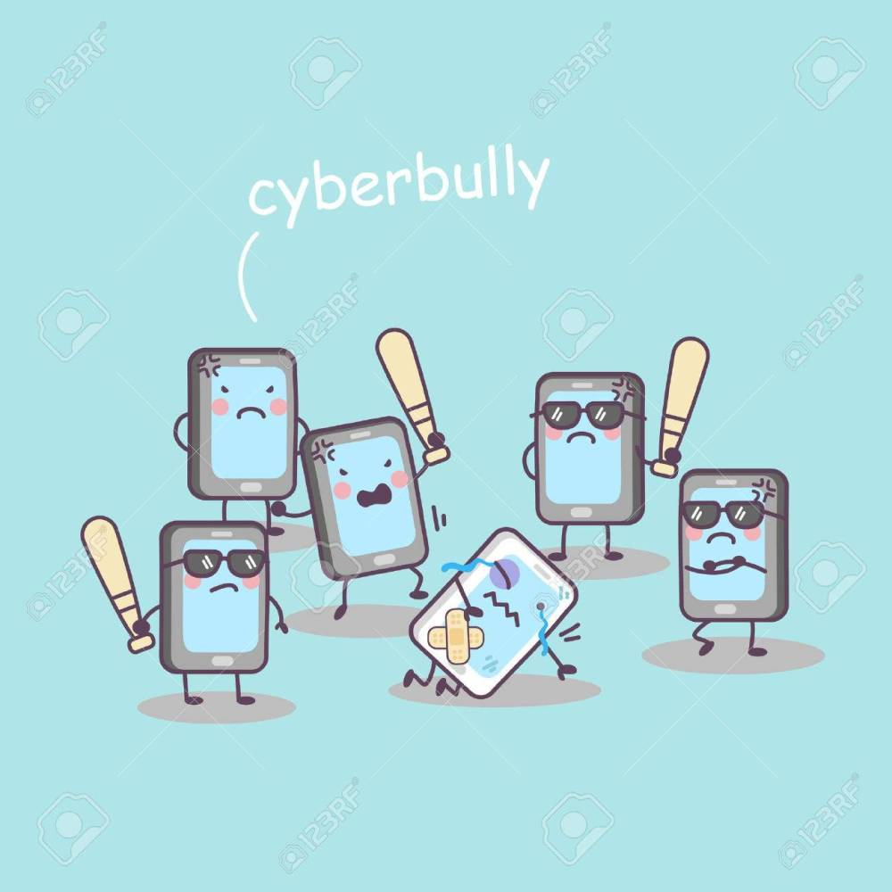 medium resolution of cute cartoon cellphone bully great for technology concept design stock vector jpg 1300x1300 cyberbullying clipart