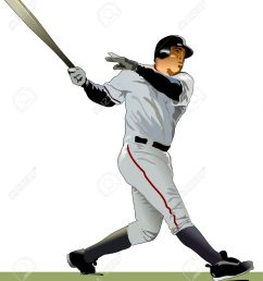 baseball batter illustration stock vector 9884991 [ 1141 x 1300 Pixel ]
