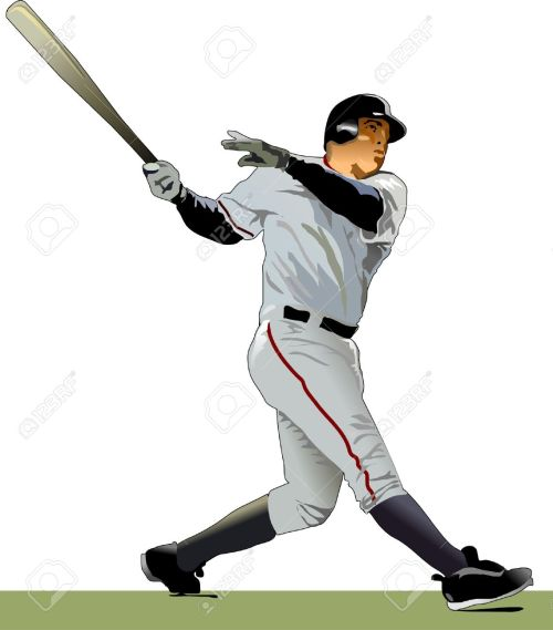 small resolution of baseball batter illustration stock vector 9884991