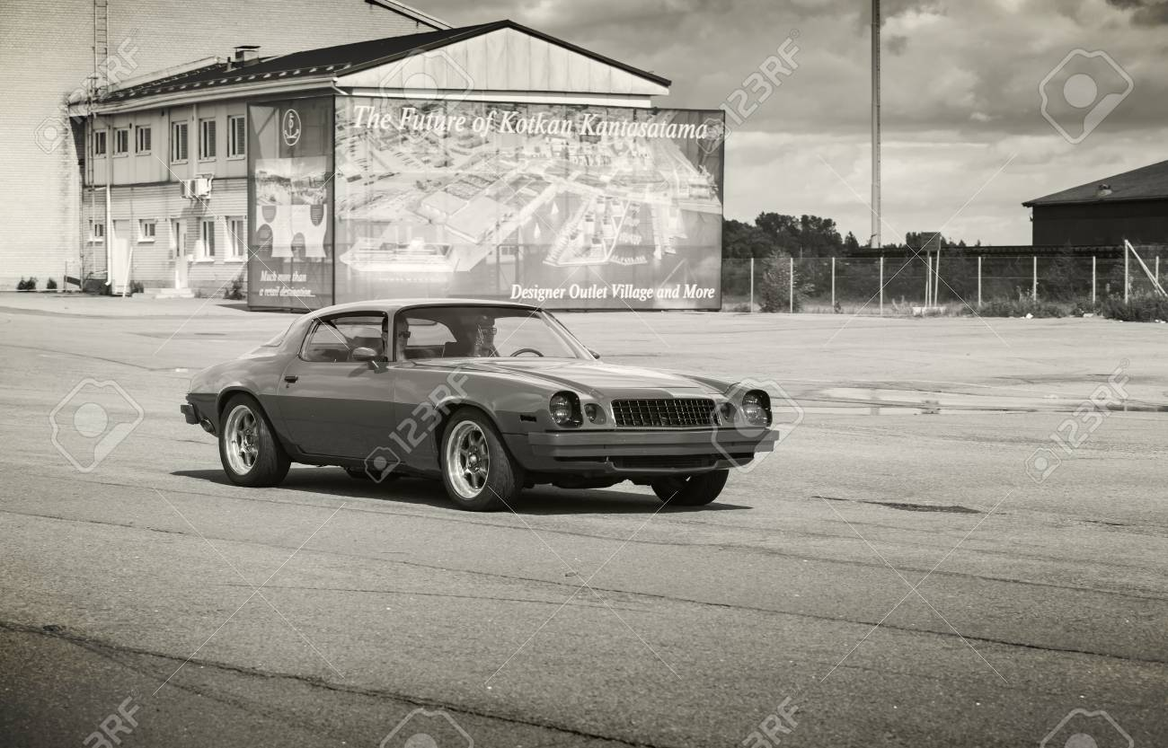 hight resolution of kotka finland july 16 2016 red 1976 chevrolet camaro sport goes down