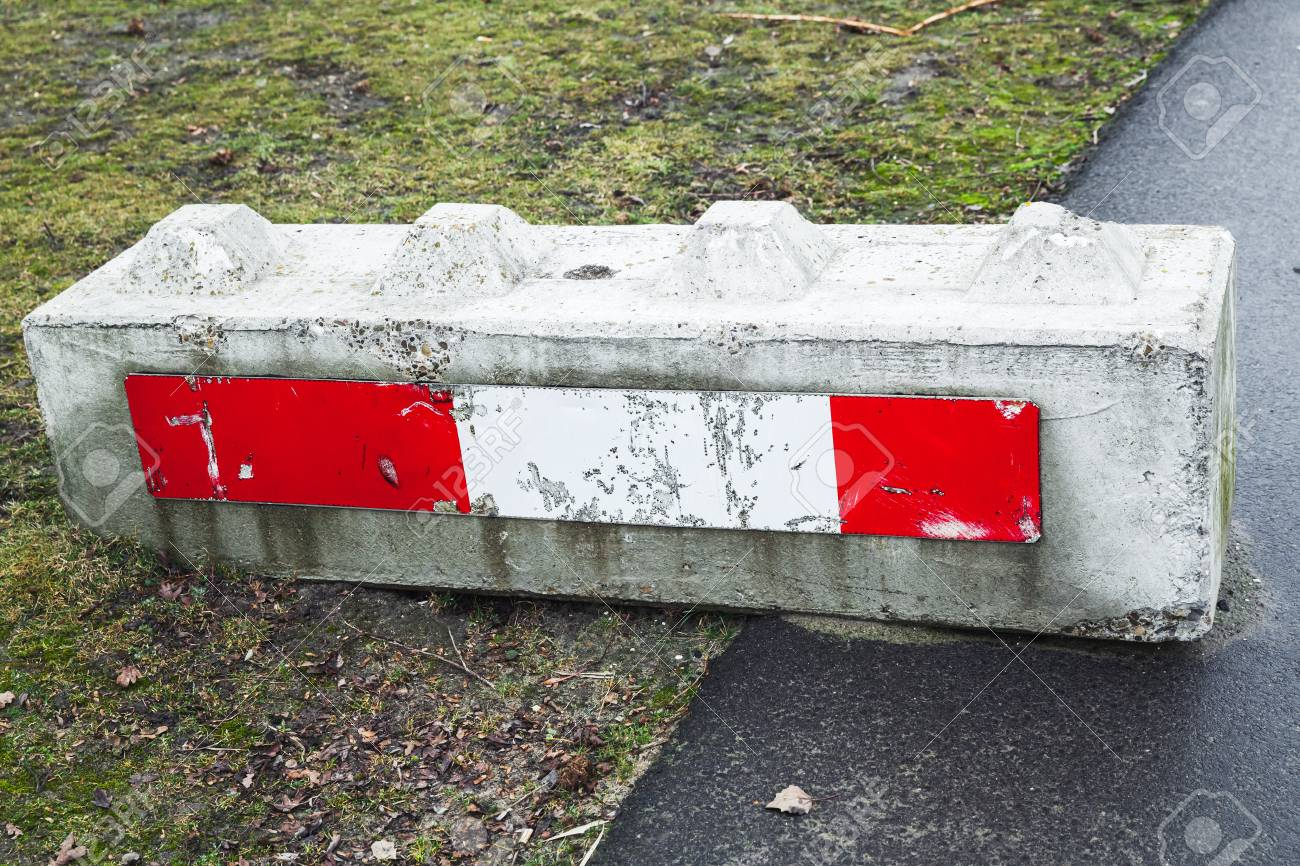 concrete road block with