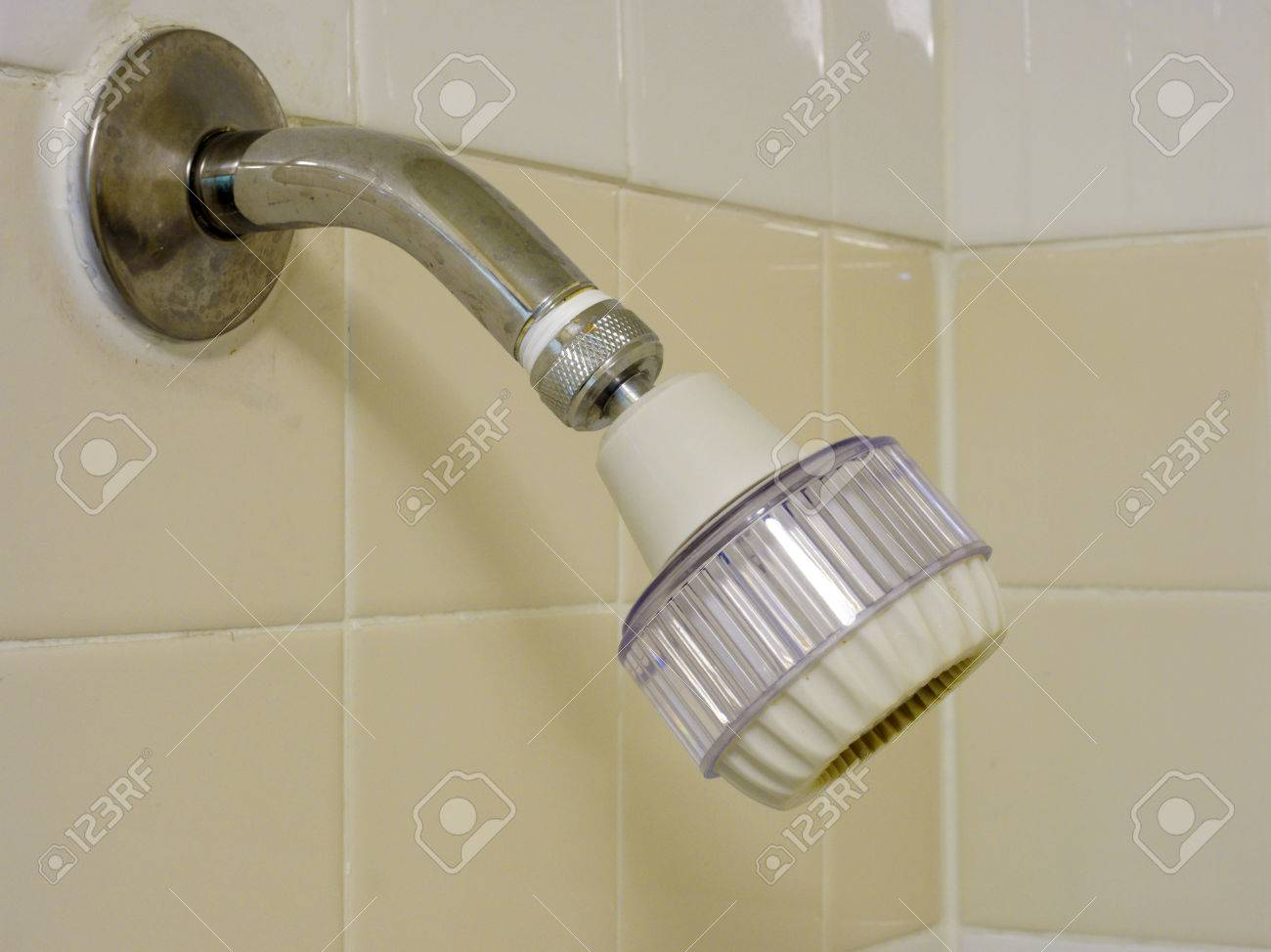 Adjustable Water Saving Low Flow Shower Head Mounted On The Wall