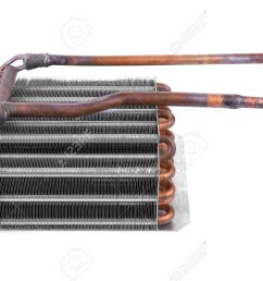 car condenser radiator isolated on white background radiator top view of radiator for pick  [ 1300 x 894 Pixel ]