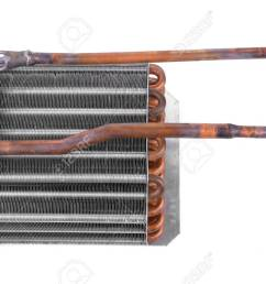 car condenser radiator isolated on white background radiator top view of radiator for pick  [ 1300 x 861 Pixel ]