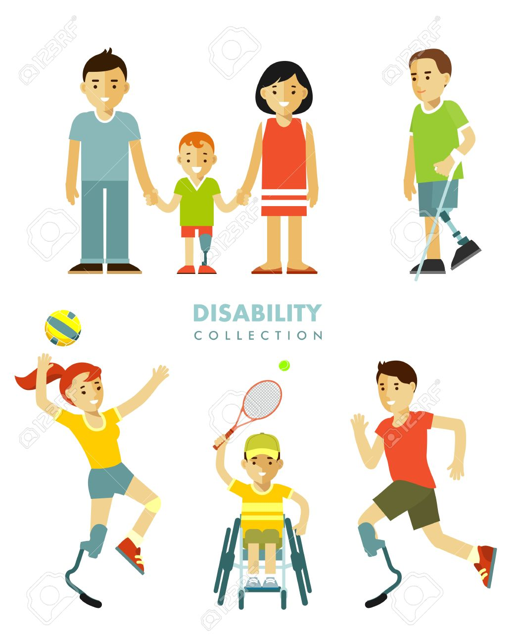 hight resolution of young disabled person with prosthesis in wheelchair in sport activity child and family isolated