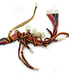 computer wireharness with connector isolated om white stock photo 37404128 [ 1300 x 805 Pixel ]