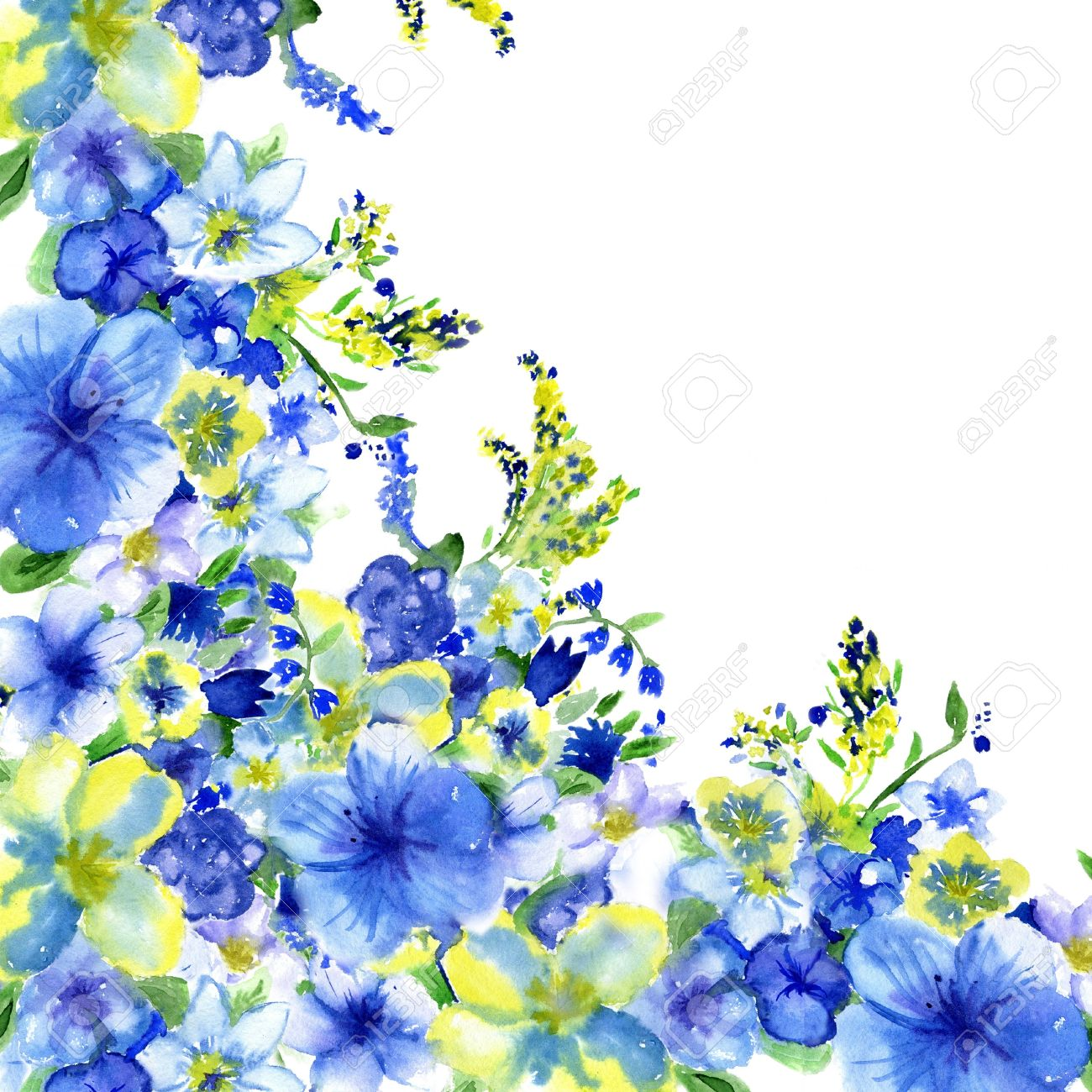 watercolor dark blue and