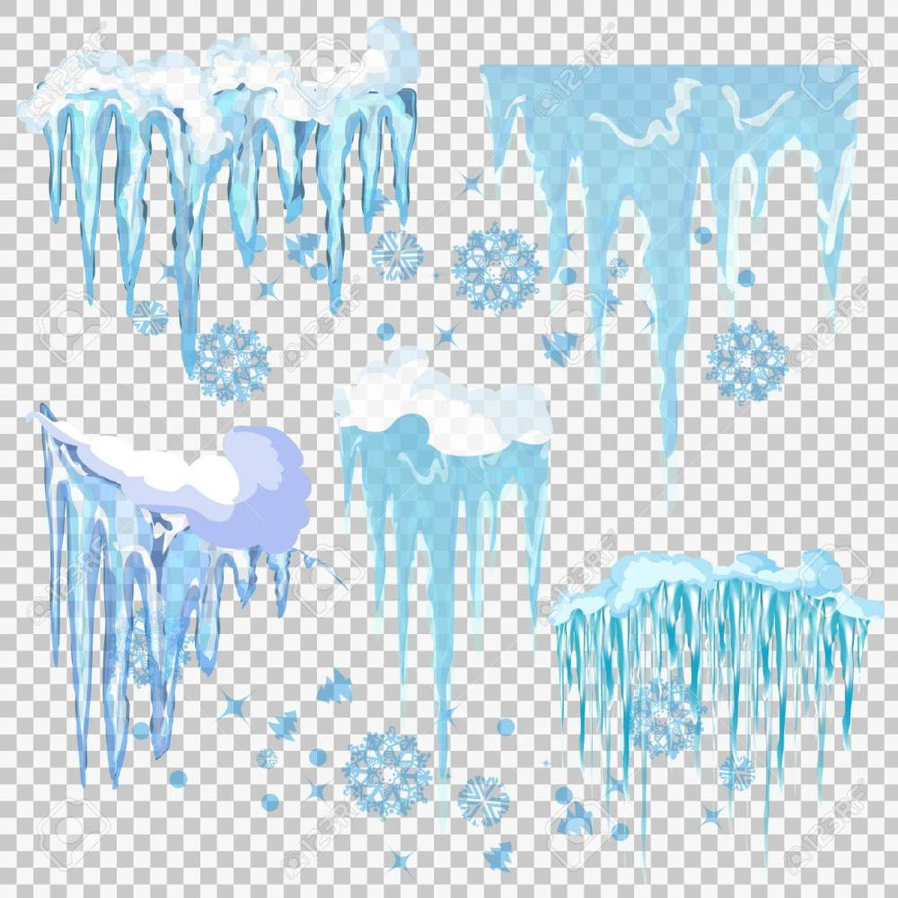 medium resolution of vector vector icicle and snow elements clipart different snow cap vector
