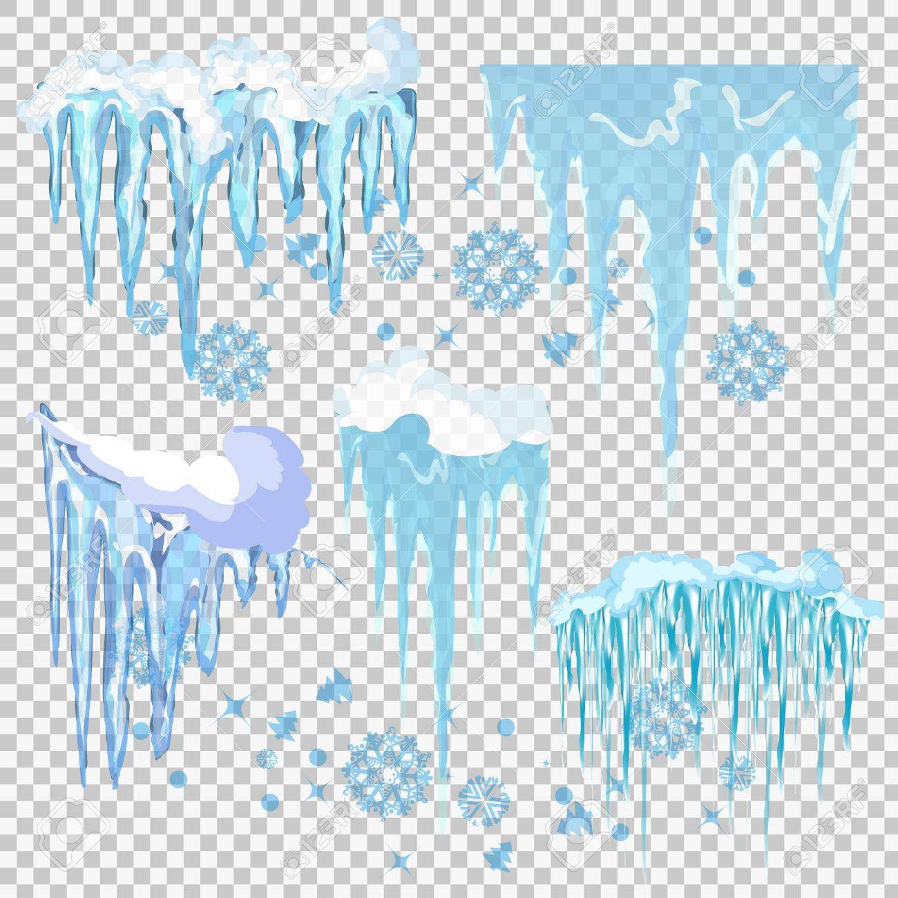 hight resolution of vector vector icicle and snow elements clipart different snow cap vector