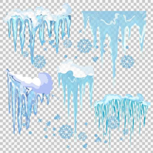 small resolution of vector vector icicle and snow elements clipart different snow cap vector