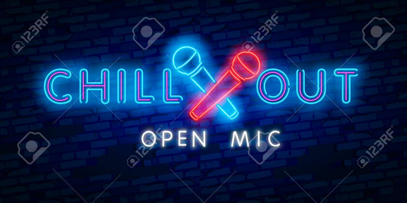Chill Out Open Mic Party Tourism And Vacation Advertisement Royalty Free Cliparts Vectors And Stock Illustration Image 124950010