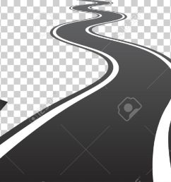 vector winding road with white lines leaving over the horizon vector illustration on transparent background [ 1300 x 791 Pixel ]
