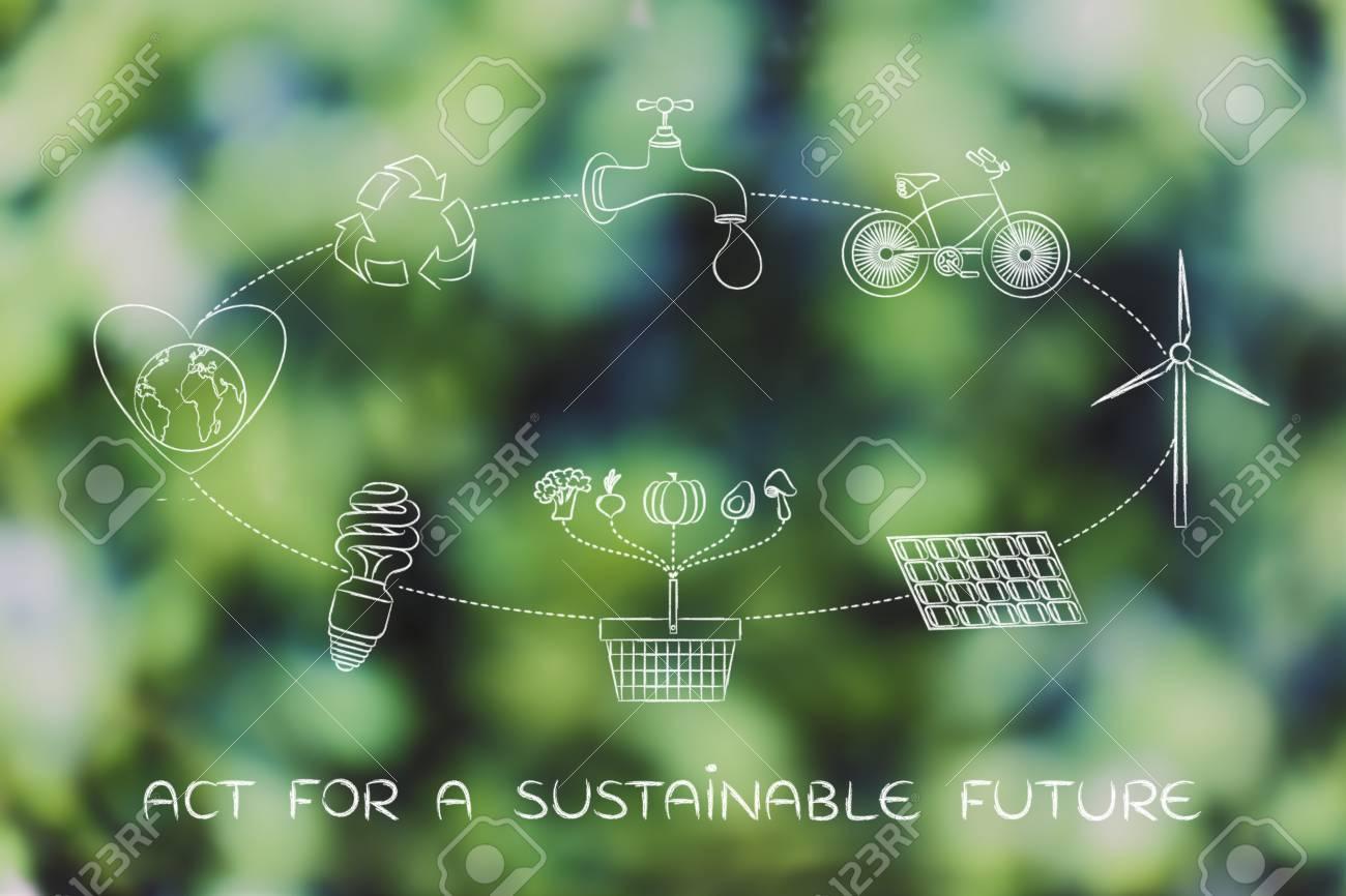 hight resolution of agir pour un avenir durable diagramme avec des tapes quotidiennes pour prot ger l environnement