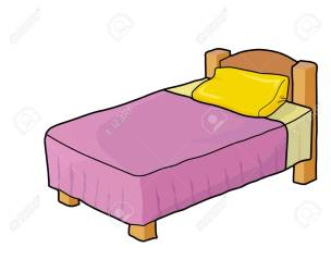 Wooden Bed Purple Blanket Yellow Pillow Royalty Free Cliparts Vectors And Stock Illustration Image 68977403