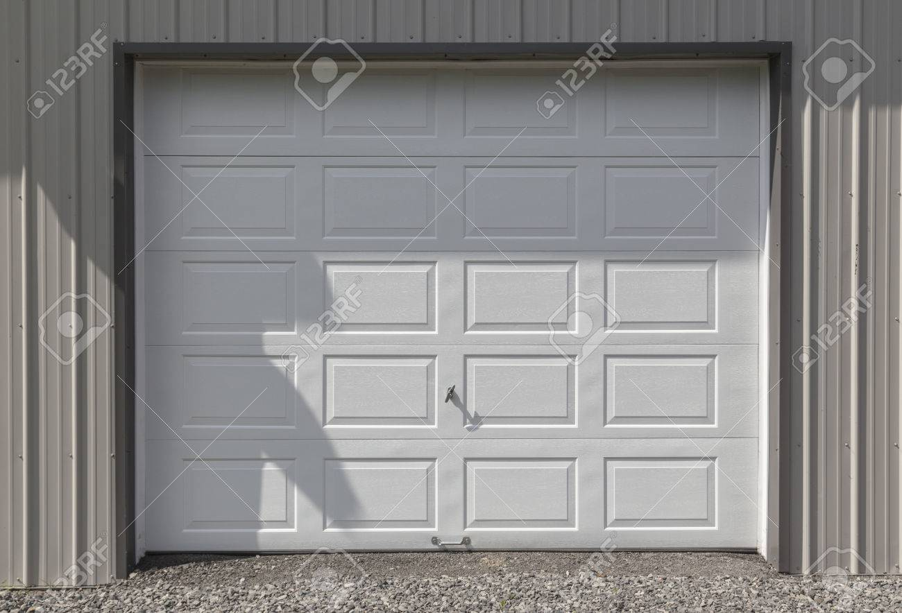Clean And Crisp White Metal Garage Or Barn Door The Siding Is Stock Photo Picture And Royalty Free Image Image 29260721