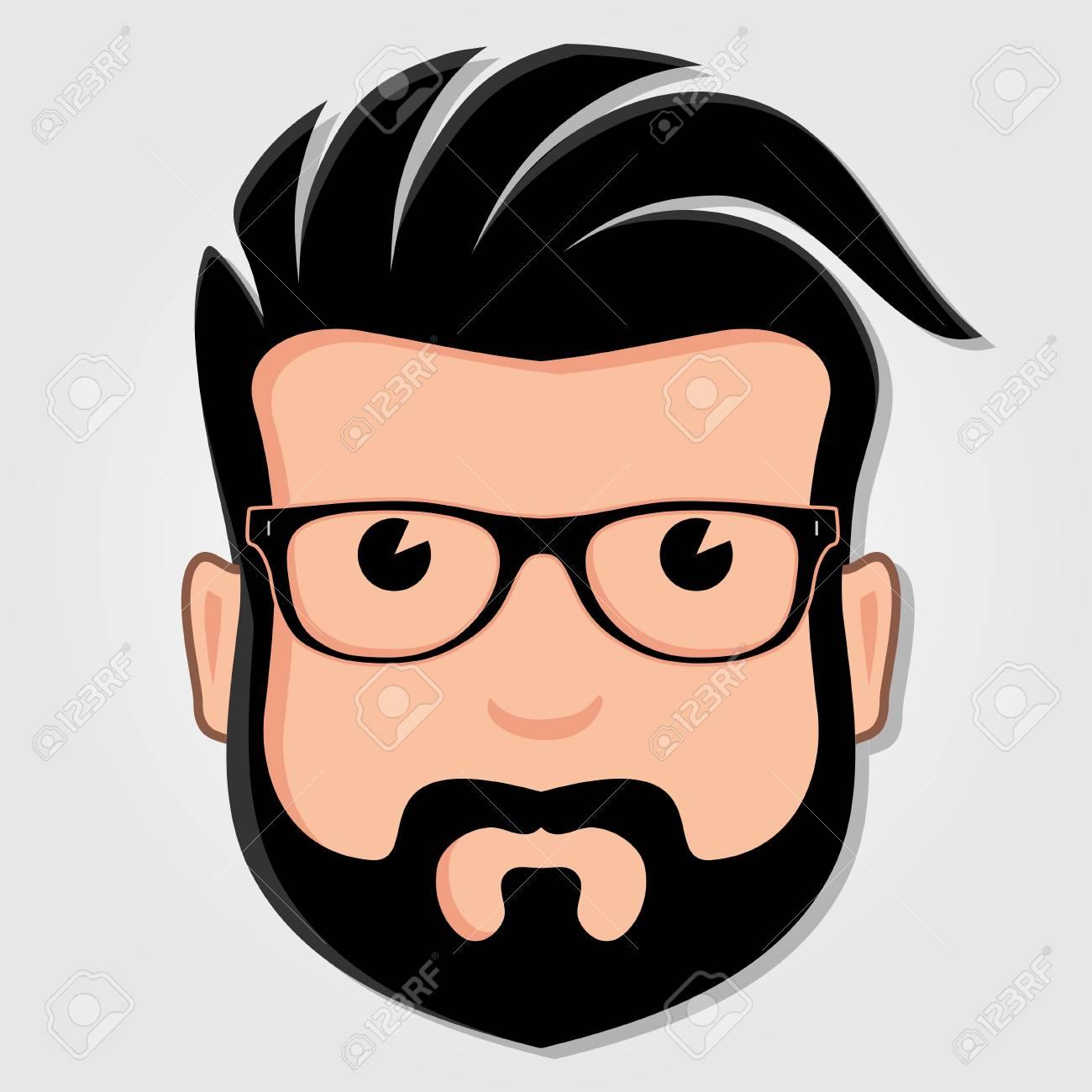 man cartoon face with