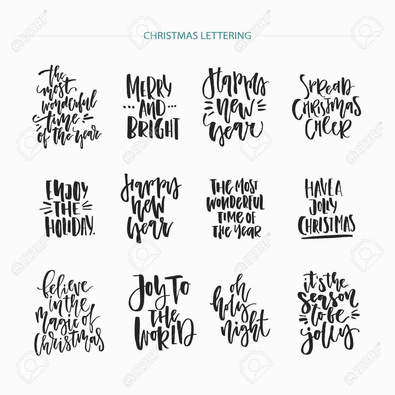christmas lettering collection unique